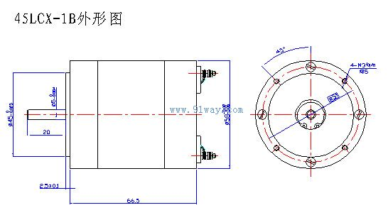 45LCX系列稀土永磁直流力矩测速机组是稀土永磁体制成的高性能力矩电动机与同轴联接的高灵敏度低速测速发电机组合而成的,并可配光电编码器。 本机组可输出低转速、大扭矩、不退磁、反应速度快、特性线性度好、电压输出斜率高、结构紧凑,使用方便,是一种新型高精度调速伺服系统执行组合元件。 45LCX系列稀土永磁直流力矩测速机组技术参数:  45LCX系列稀土永磁直流力矩测速机组外形及安装尺寸:   45LCX系列稀土永磁直流力矩测速机组