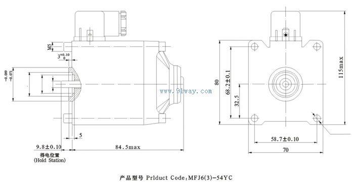 mfj6-54yc交流湿式阀用电磁铁
