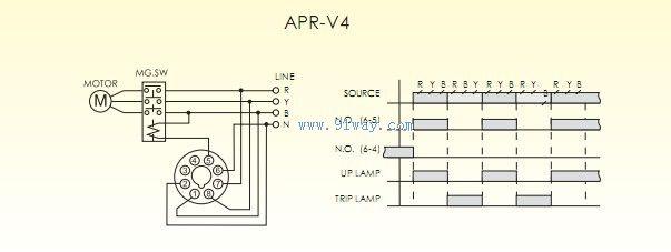 apr-v4欠逆相保护继电器接线图