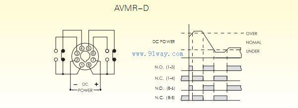 avmr-d电压继电器接线图