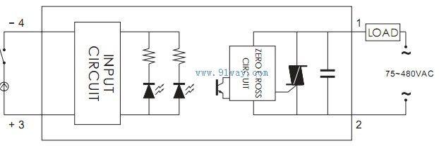ssr-la-h系列固态继电器接线图