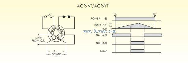 acr-nt电流继电器接线图