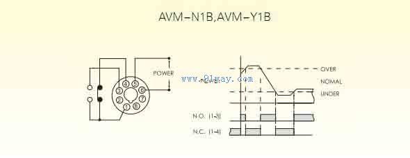 avm-nb电压继电器接线图与时序图