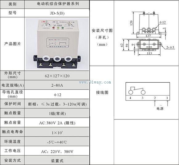 JD 5电动机综合保护器