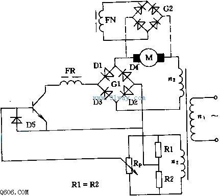 直流电动机曲转速控制电路图