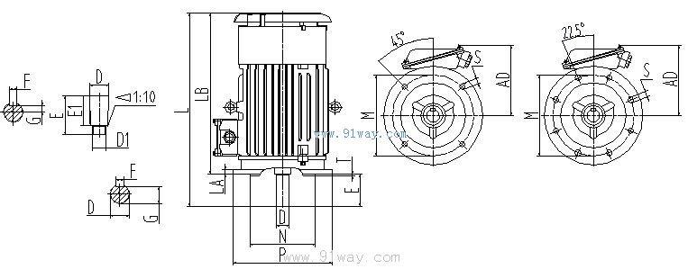 yzb系列变频调速三相异步电动机接线图