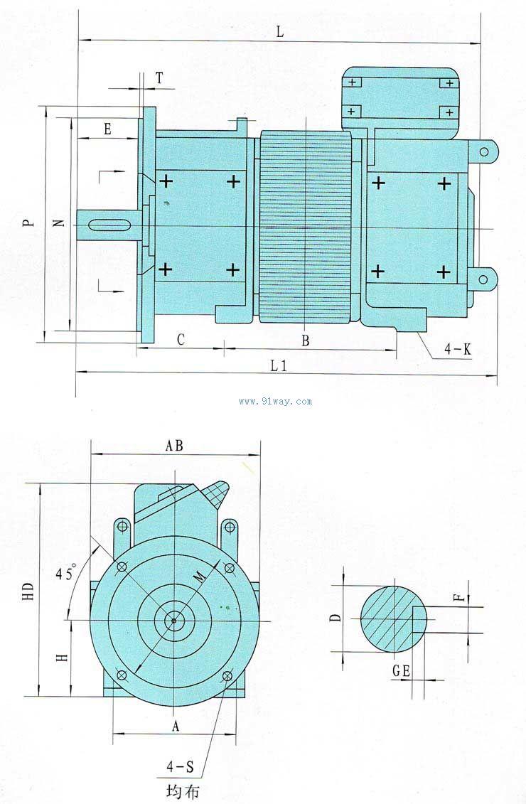 输出八角镇流器接线图
