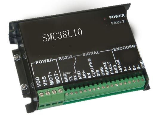 SMC系列直流伺服电机驱动器是根据当前市场需要,按直流伺服电动机和直流力矩电动机的控制特点,有针对性的设计的数字化电机驱动模块,驱动器的各项性能符合当前主流市场要求,具有良好的可控性和高稳定性。使用场合:用于数控机床、医疗设备、造纸设备、包装设备、单晶炉、电缆设备等自动化设备中直流伺服电动机和直流力矩电动机的控制。 SMC系列直流伺服电机驱动器技术参数: