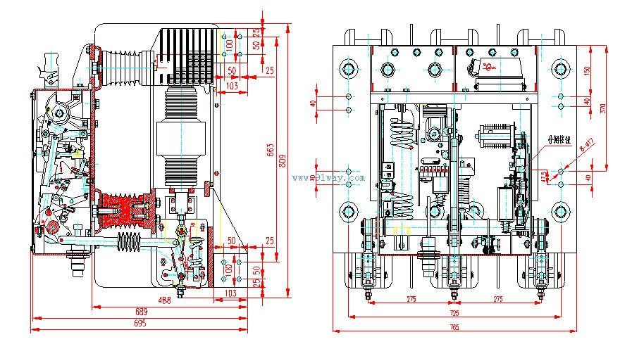 发电机出口保护真空断路器及真空开关管