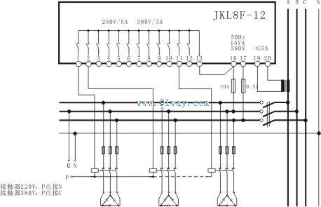 率自动补偿控制器接线图