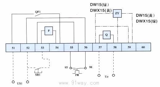 dw15,dwx15系列万能式断路器接线图4
