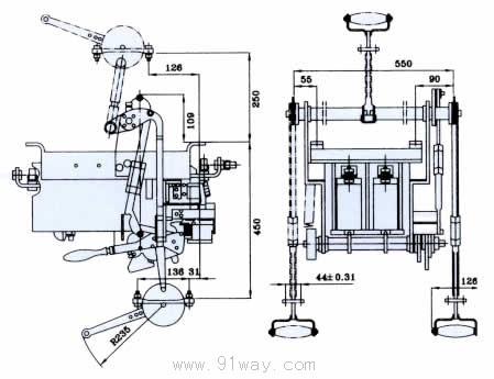 rmw16系列万能式断路器安装尺寸5