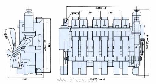 rmw16系列万能式断路器安装尺寸6