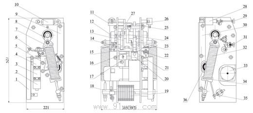 结构_ct10,ct10a弹簧操动机构结构图