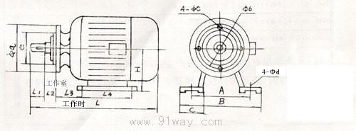 zd1系列锥形转子制动三相异步电动机
