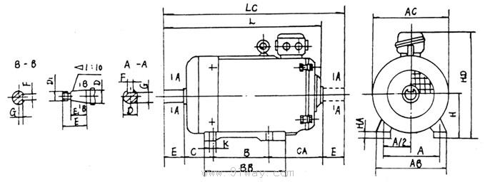 起重用双速电机接线图
