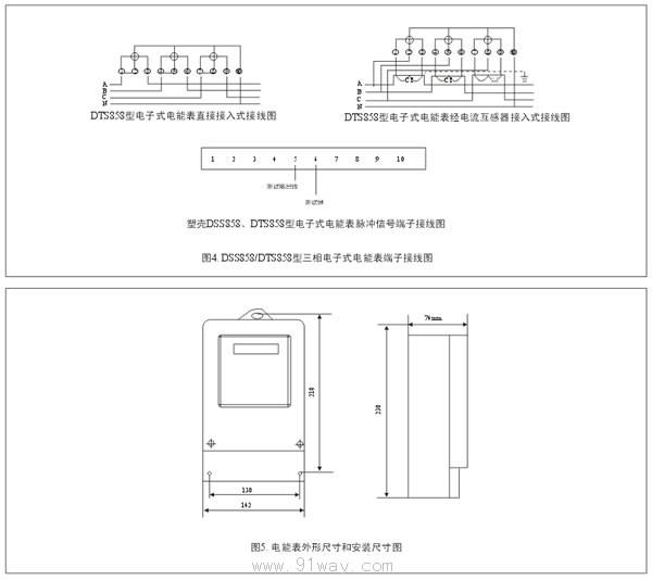 有功电度表》中对三相电子式电能表的全部技术要求