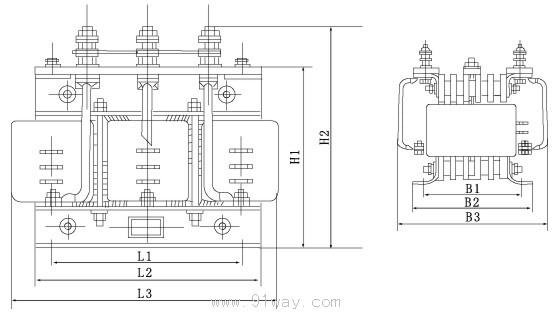 绕线电机132kw频敏变阻起动接线图