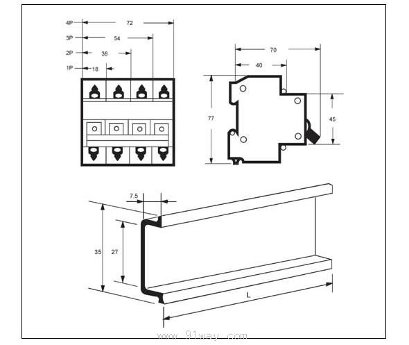 DZ47-63高分断小型断路器,具有结构先进、性能可靠、分断能力高,外型美观小巧等特点,壳体和三部 件采用耐冲击,高阻燃材料构成。适用于交流50/60Hz,额定电压415V以下,额定电流至63A线路的过载 和短路保护之用,也可以在正常情况下作为线路的不频繁操作转换之用。该断路器适用于工业、商业、高 层和民用住宅等各种场所。符合GB10963,IEC60898标准。    DZ47-63高分断小型断路器