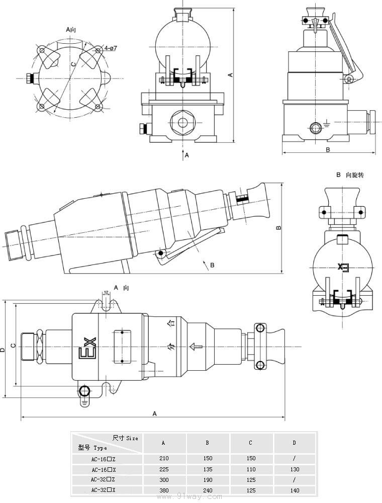 首页 特种电器 防爆接线盒 → ac系列防爆插销(Ⅱ b,Ⅱ c)  &nbsp