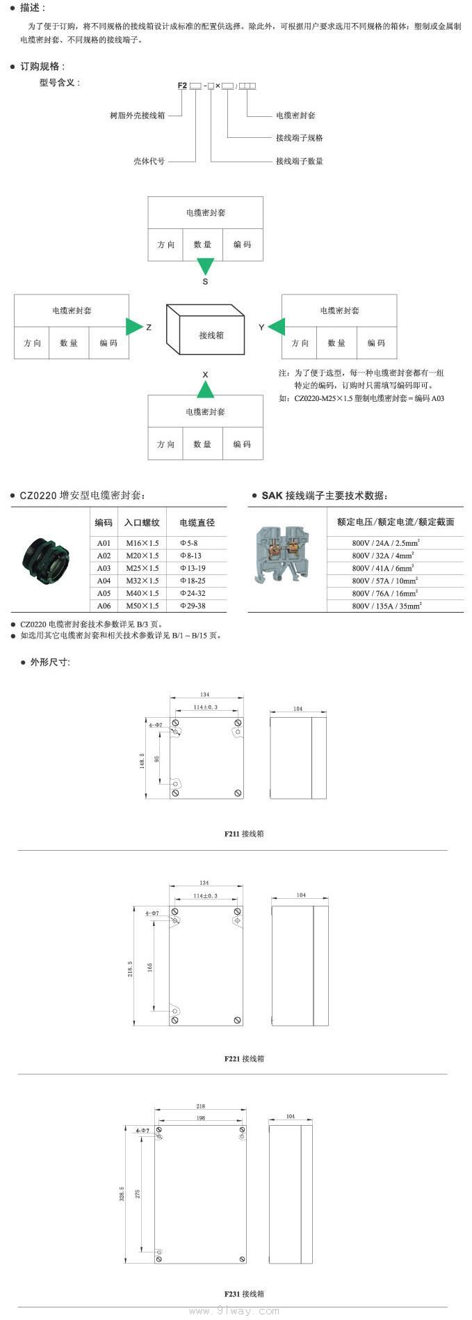 首页 特种电器 防爆接线盒 → f2□□防爆接线箱  f2□□防爆接线箱