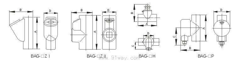 首页 特种电器 防爆接线盒 → bag防爆隔离密封盒(Ⅱb,Ⅱc)  适用范围