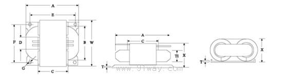R型变压器比EI变压器小30%,薄40%,轻40%。 R型变压器漏磁最小,比EI型变压器小10倍。 产生的热量最少比EI型变压器小50%。 不会产生噪音,这一特点远胜EI型变压器或铁芯有间隙的切形铁芯变压器。 R型变压器与环形变压器相比,工作性能更强,可靠性更高,绝缘性能强,安装简便。 构造比EI和C型变压简单但可靠性和品质都比它们高。 容许你有细密的设计和减低成本提高效益。 的设计基本上满足全球一切安全标准。 R型变压器主要应用于显示器、打印机、电脑终端机、复印机、图文传真机、卫星广播接收器、高保真音响