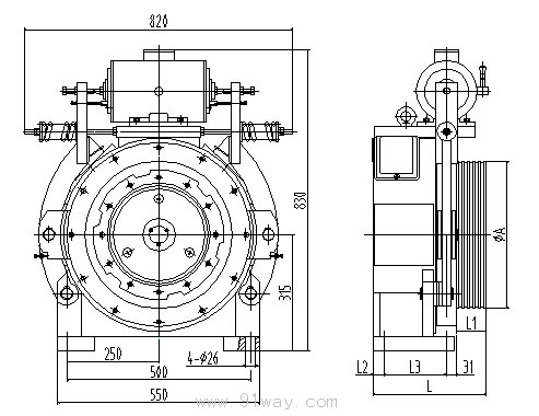 tdw-450b系列电梯电机