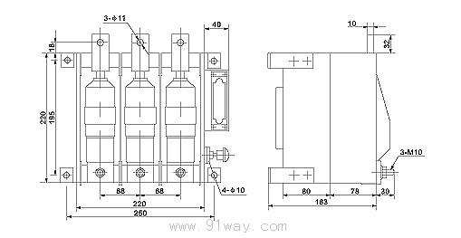 zn7-400型低压真空断路器