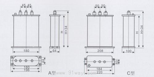 23(0.22)系列单相低压并联电力电容器