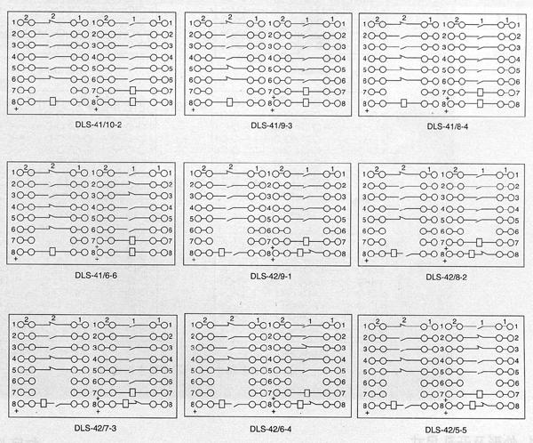 dls-40系列双位置继电器内部接线