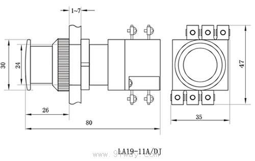 la19-11a/dj紧急带指示灯式按钮