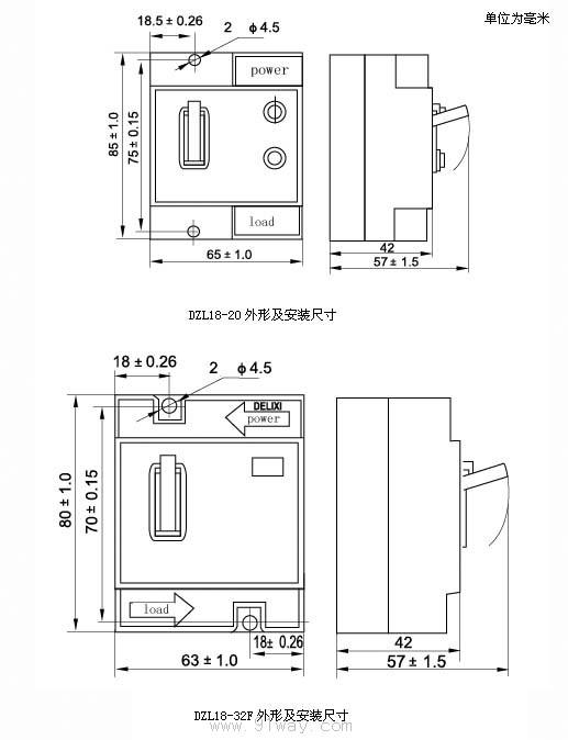 dzl18-20系列漏电断路器