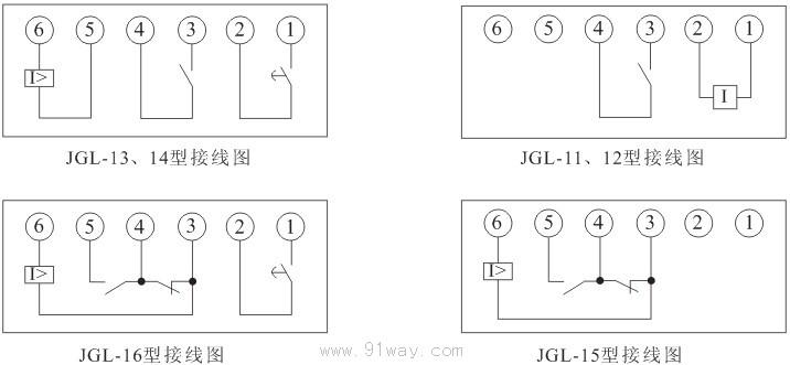 过流继电器接线图