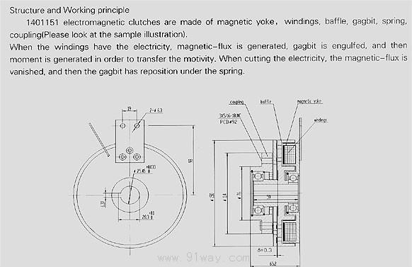 1401151型钢摩擦电磁离合器