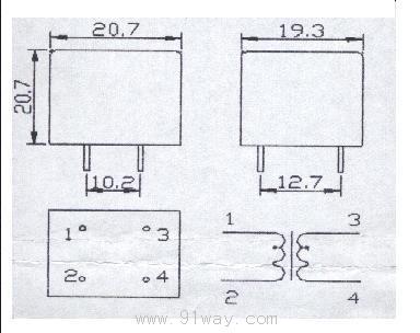 pt01-3系列微型电压互感器