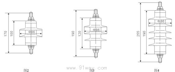 概述 YH系列0.28kV~51kV复合外套交流无间隙金属氧化物避雷器是用于保护0.22kV~35kV交流电力系统输变电设备免受雷电及操作过电压损害的重要保护电器。 型号说明及结构  型号含义 产品型式:Y-瓷外套金属氧化物避雷器;YH-复合外套金属氧化物避雷器。标称放电电流:表示金属氧化物避雷器的标称放电电流,单位为kA 结构特征:W-无间隙;C-有串联间隙;B-有并联间隙使用场所:S-用于配电;Z-用于电站;R-用于保护电容器组;D-用于电机 注:对于低压系统、旋转电机、变压器、电机中性点保护的避雷器