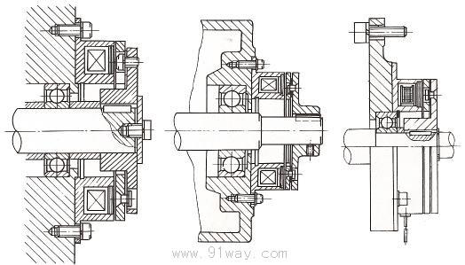 dzd10系列单片电磁离合(制动)器结构图