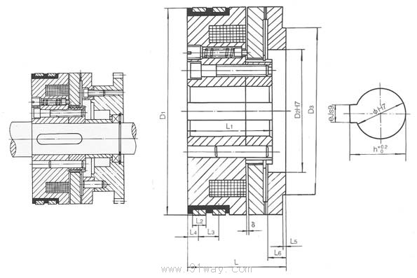 dlyh系列牙嵌式电磁离合器