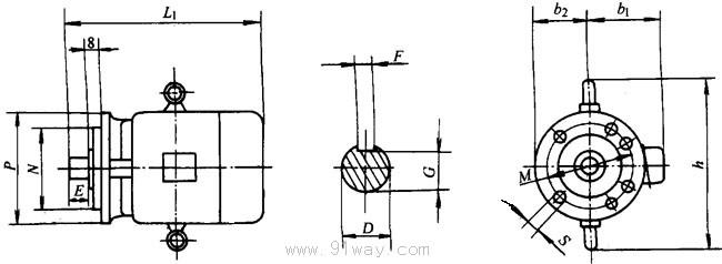 制动器的工作原理:制动器的工作定额与电动机是一致的,制动器用外加直流电源,当电动机接入电源,制动器线圈应同时通电,电磁铁立即将衔铁吸上,并使埋置在电磁铁内的弹簧压缩,使制动件与衔铁和摩檫片脱开,制动件随带失轴套与转子一起转动,当电动机切断电源,制动器应同时切断,电磁铁失去电磁吸力,弹簧立即推动衔铁压紧制动件产生摩檫力矩,将电动机转子立即刹车。