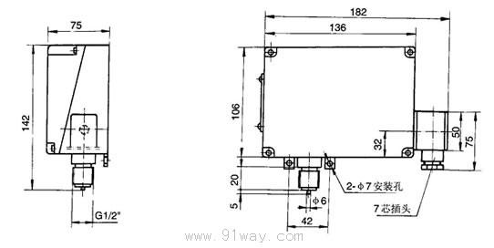 D512/10D(原YTK-12)压力控制器采用弹簧管式传感器,可用于腐蚀性气体和液体介质。控制器的设定值可调,调节范围140Mpa。 特点: 控制器压力控制范围大; 控制精度高; 切换差小; 传感器适用腐蚀性介质(气体或液体)。 D512/10D(YTK-12)型压力控制器主要技术性能: 工作粘度:400mm2/s 开关元件:微动开关一组 外壳防护等级:IP65 环境温度:-25~55 介质温度:0~80 抗振性能:Max 10m/s2 重复性误差:1% 安装位置:任意 触点容量:Vmax=3